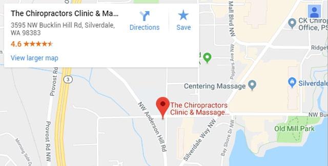 Silverdale WA Chiropractor Map