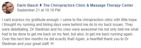 Chiropractic Silverdale WA The Chiropractors Clinic & Massage Therapy Center Patient Testimonial